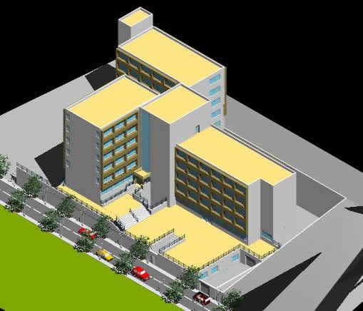 Planos de Hotel 3d, en Casinos hoteles y restaurantes – Proyectos