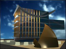 imagen Hotel 5 estrellas 3d, en Casinos hoteles y restaurantes - Proyectos