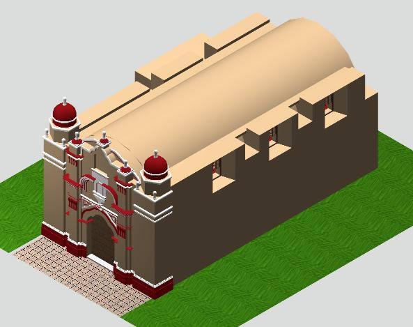Planos de Iglesia colonial santa maría maranga en 3d monumento histórico, en Iglesias y templos – Historia