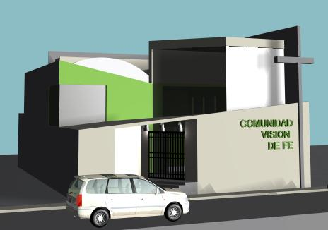 imagen Iglesia evangelica 3d, en Arq. religiosa - Proyectos
