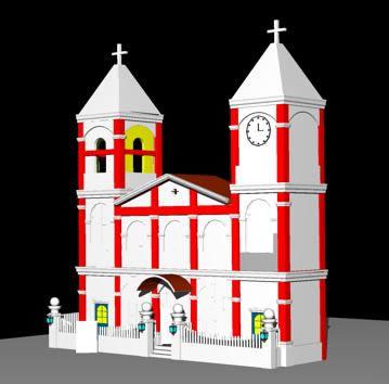 Iglesia playa vicente veracruz 3d, en Arq. religiosa – Proyectos