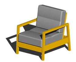 Planos de Ikea- sofa llilberg 1 puesto, en Sillones 3d – Muebles equipamiento