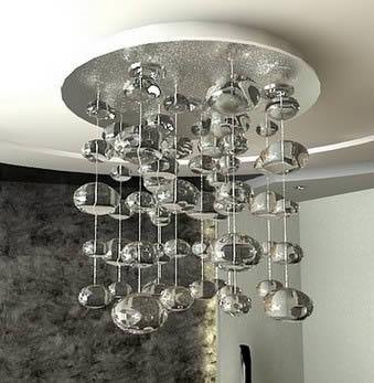 Iluminacion cristal, en Luminarias – Muebles equipamiento