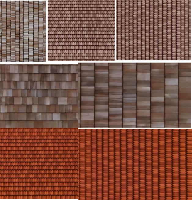 imagen Imagenes de shingle, en Tejados - Texturas