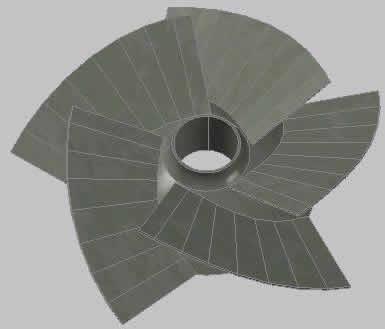 Planos de Impulsor 3d, en Equipos de bombeo – Máquinas instalaciones