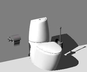 imagen Inodoro 3d, en Baños - Muebles equipamiento