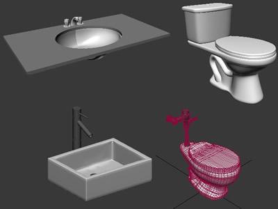 imagen Inodoros - lavatorios 3dmax, en Artefactos - Sanitarios