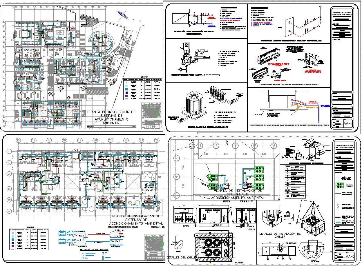 Planos de Instalación de aire acondicionado hospital, en Aire acondicionado – Climatización