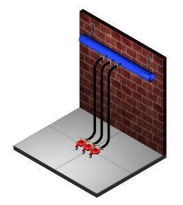 Planos de Instalacion de reguladores de gas 3d, en Plantas industriales – Proyectos