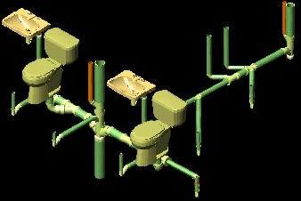 Planos de Instalacion sanitaria 3d, en Instalaciones cloacales y pluviales – Instalaciones