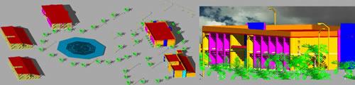 Planos de Instituto tecnológico arandas en 3d, en Establecimientos educacionales – Proyectos