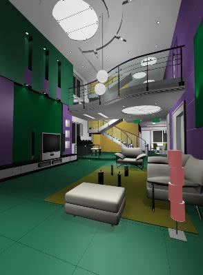Interior 3d vivienda, en Vivienda unifamiliar 3d – Proyectos