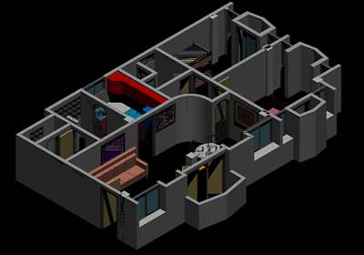 imagen Interior de apartamento, en Vivienda unifamiliar 3d - Proyectos