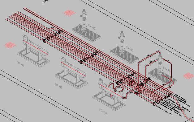 Planos de Isometrico de una bateria de separacion de gas, en Gas y combustibles – Infraestructura
