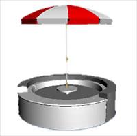 imagen Jacuzzi con parasol, en Construcciones accesorias - Piscinas y natatorios
