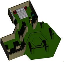 Planos de Jacuzzi en 3d, en Baños – Muebles equipamiento