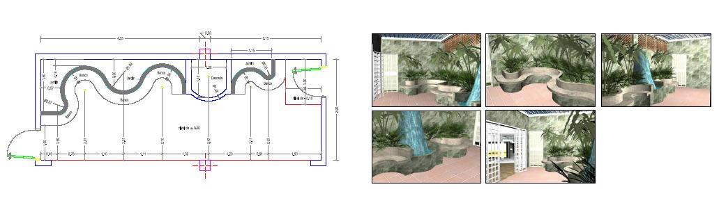 Jardinera, en Pérgolas fuentes y elementos decorativos – Parques paseos y jardines
