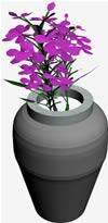 imagen Jarron con flores, en Plantas de interior 3d - Arboles y plantas