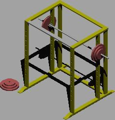 Planos de Jaula de potencia 3d, en Equipamiento gimnasios – Deportes y recreación