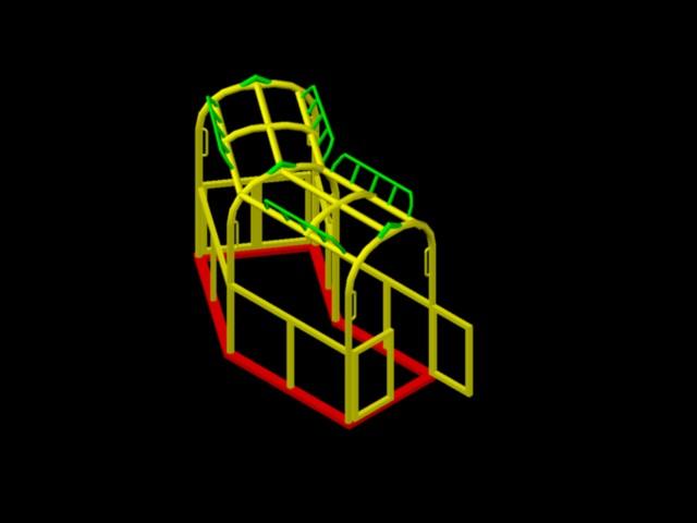 Planos de Jaula de seguridad, en Estructuras de acero – Detalles constructivos