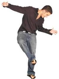 Joven bailando, en Fotografías para renders – Personas