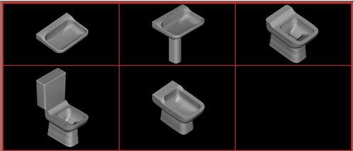 Planos de Juego de baño ideal standard – conca, en Juegos de baño ideal standard 3d – Sanitarios