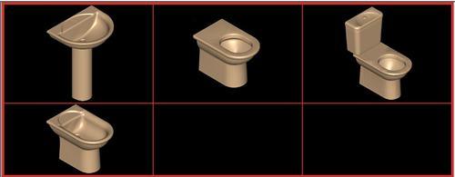 Planos de Juego de baño ideal standard – essedra, en Juegos de baño ideal standard 3d – Sanitarios
