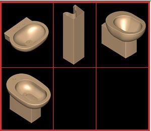 Planos de .juego de baño ideal standard – linda, en Juegos de baño ideal standard 3d – Sanitarios