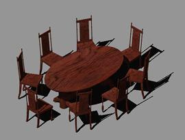 Planos de Juego de comedor 3d, en Mesas y juegos de comedor 3d – Muebles equipamiento