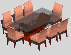 imagen Juego de comedor, en Mesas y juegos de comedor 3d - Muebles equipamiento