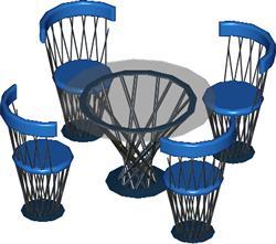 Planos de Juego de comedor, en Mesas y juegos de comedor 3d – Muebles equipamiento