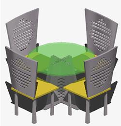 Planos de Juego de comedor pequeño, en Mesas y juegos de comedor 3d – Muebles equipamiento