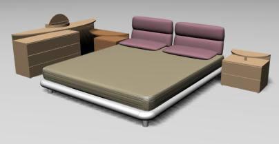 Juego de dormitorio 3d, en Dormitorios – Muebles equipamiento