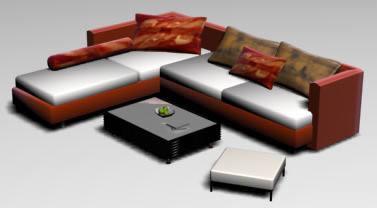 imagen Juego de living 3d, en Sillones 3d - Muebles equipamiento