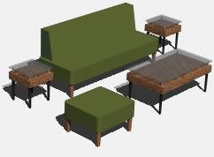 Planos de Juego de muebles, en Mesas y juegos de comedor 3d – Muebles equipamiento