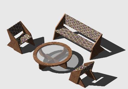 Planos de Juego de sala 3d, en Mesas y juegos de comedor 3d – Muebles equipamiento