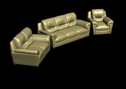 imagen Juego de sala 3d, en Sillones 3d - Muebles equipamiento