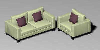 Juego de sillones 3d, en Sillones 3d – Muebles equipamiento
