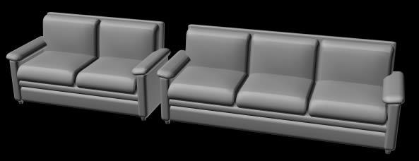 Juego de sillones de 2 y 3 cuerpos, en Sillones 3d – Muebles equipamiento
