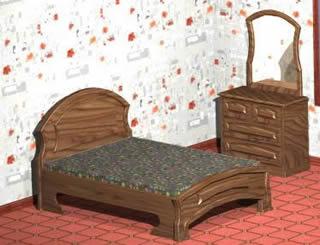 imagen Juego dormitorio wendy 2, en Dormitorios - Muebles equipamiento