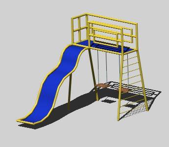Planos de Juego infantil 3d, en Juegos infantiles – Equipamiento urbano