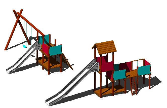 imagen Juegos infantiles 3d, en Juegos infantiles - Equipamiento urbano