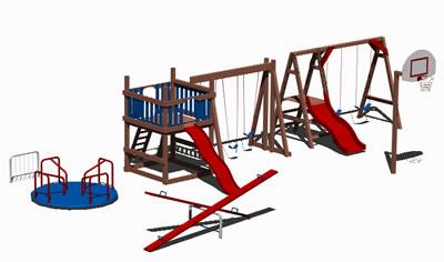 Planos de Juegos infantiles 3d, en Juegos infantiles – Equipamiento urbano