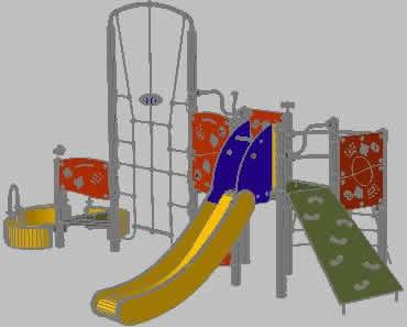 Planos de Juegos infantiles, en Equipamiento de parques paseos y plazas – Equipamiento urbano