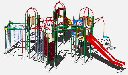 Planos de Juegos para niños, en Equipamiento – Parques paseos y jardines