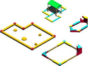 Juegos para niños, en Jardín de infantes – Muebles equipamiento