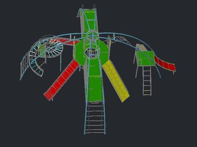 Planos de Juegos para parques 3d, en Juegos infantiles – Equipamiento urbano