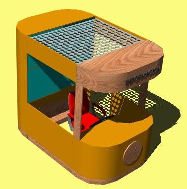 Planos de Kiosco de informacion 3d, en Cabinas de telefonía publica – Equipamiento urbano