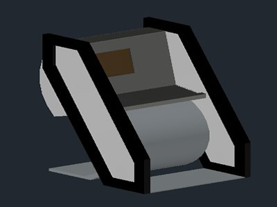 Planos de Kiosco virtual, en Centros de información y recepción – Muebles equipamiento