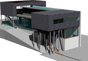 Planos de Koolhaas villa dall ava, en Obras famosas – Proyectos
